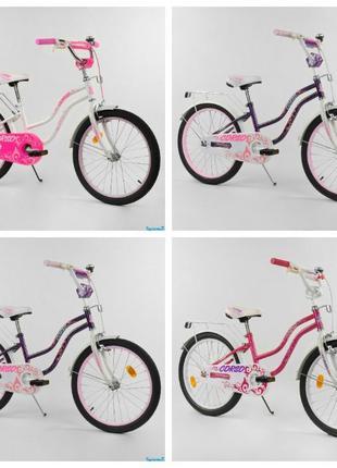Детский двухколесный велосипед Corso 20 дюймов для девочки