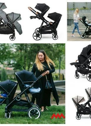 Уникальная коляска BabyZz Dynasty для двойни и погодок 2 прогулки