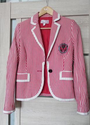 Полосатый пиджак жакет
