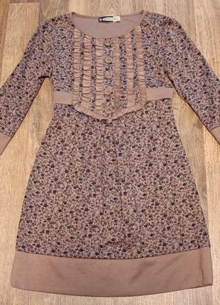 Красивое нарядное платье, повседневное платье, платье в цветоч...