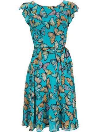 Красивое платье с поясом wallis, р.18