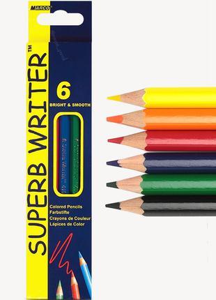 Цветные карандаши Марко 6 цветов 4100-6