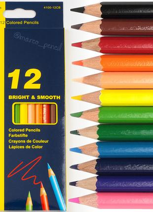 Цветные карандаши Марко 12 цветов 4100-12