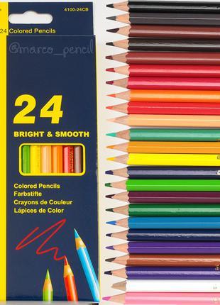 Цветные карандаши Марко 24 цвета 4100-24