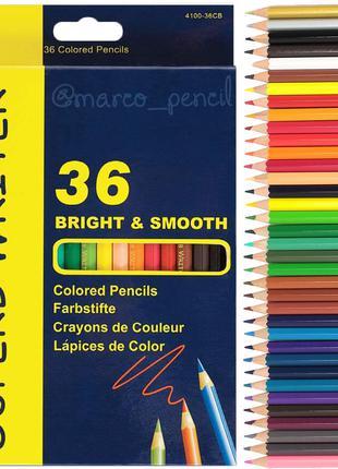 Цветные карандаши Марко 36 цветов 4100-36