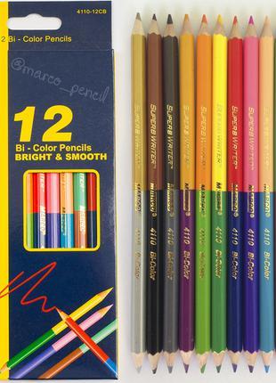 Цветные карандаши двухсторонние Марко 24 цвета 4110-12