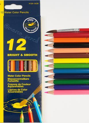 Акварельные карандаши Марко 12 цветов 4120-12