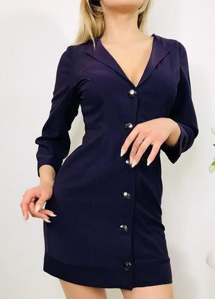 Платье-жакет в тёмно-фиолетовом цвете😈