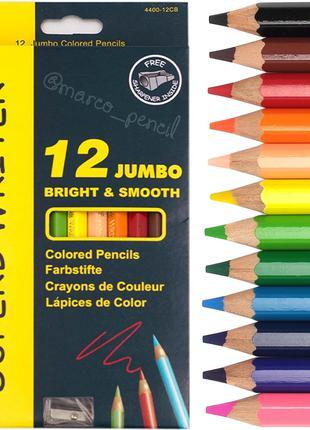 Цветные карандаши Джумбо Марко 12 цветов 4400-12