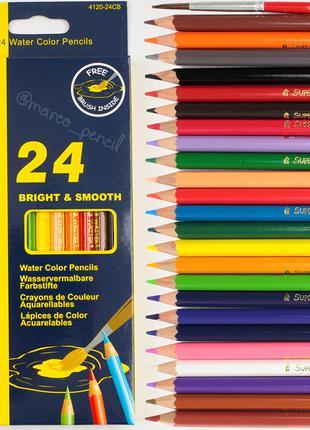 Акварельные карандаши Марко 24 цветов 4120-24