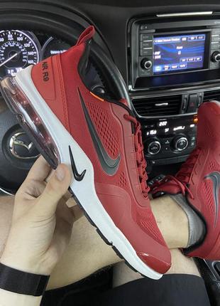 Красные мужские кроссовки nike air presto red white