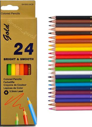 Цветные карандаши Марко Голд 24 цвета E4100G-24