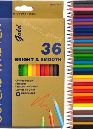 Цветные карандаши Марко Голд 36 цветов E4100G-36
