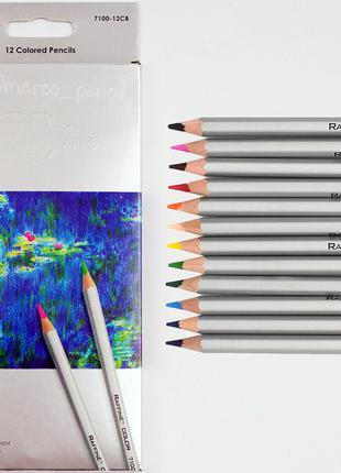 Цветные карандаши Марко Раффине 12 цветов 7100-12