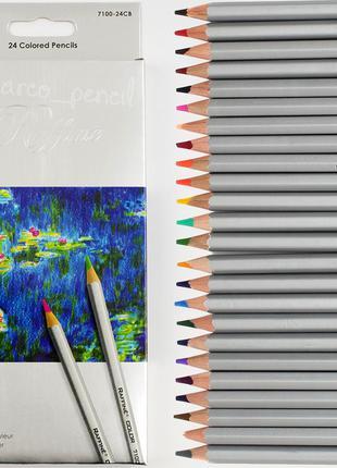 Цветные карандаши Марко Раффине 24 цветов 7100-24