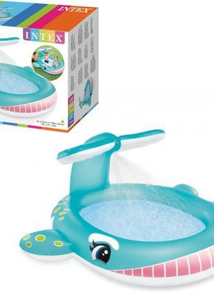 Детский надувной бассейн Intex 57440 Кит, с душем