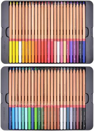Цветные карандаши Марко Реноир Файн Арт 48 цветов в метал. кейсе