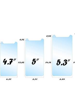 Защитное стекло универсальное 4,5 4,7 5 5,3 5,5 мобильный телефон