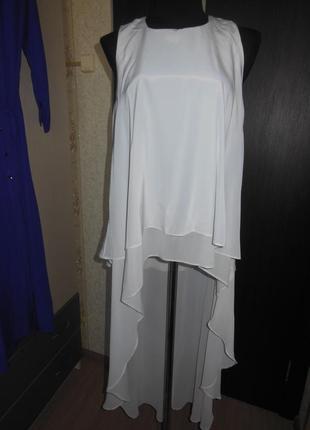 Шикарная двойная блуза, туника со шлейфом river island