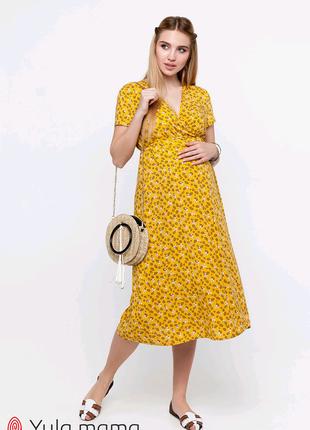 Лёгкое летнее платье для беременных из штапеля
