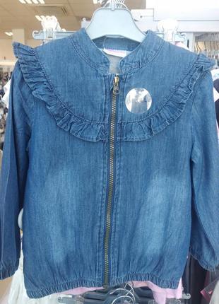 Ветровка джинсовая, джинсовка на девочку, джинсовая куртка для...