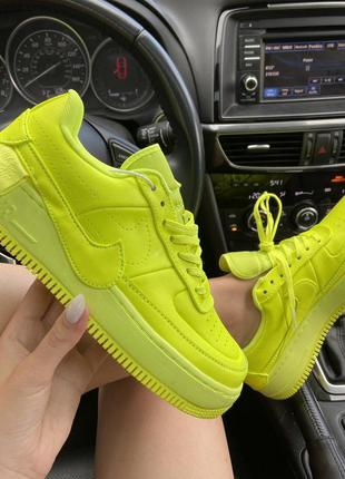Кроссовки женские nike air force 1 low jester neon green