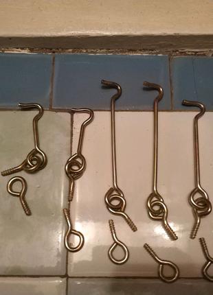 Крючки дверные оцинкованные (6 мм, 10 мм, 12 мм) 6 штук