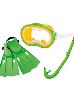 Набор маска+трубка+ласты от 8лет Intex
