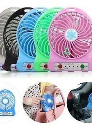 Мини вентилятор переносной мобильный ручной настольный mini fan