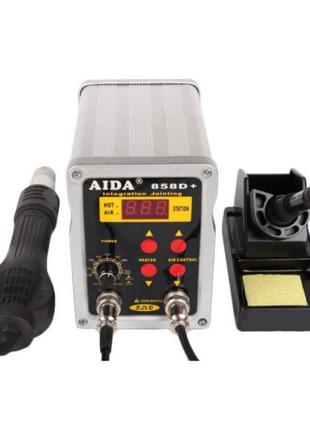 2 в 1 паяльная KADA 858D+ воздушный фен паяльник станция