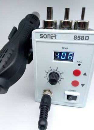 Паяльная станция Soner 858d термовоздушная фен