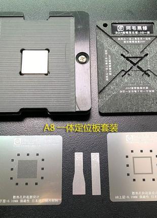 Amaoe Iphone A8 A9 A10 A11 набор BGA трафаретов c магнитной базой