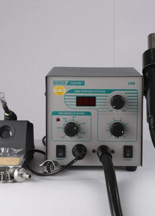 Новая Quick 706w+ паяльная станция 2 в 1 фен паяльник