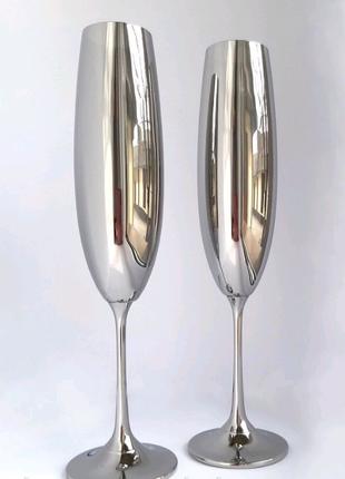 Бокали для наречених Зеркальні бокали Срібні бокали Bohemia