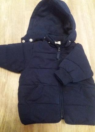 Продам детскую теплую куртку на мальчика р.68!