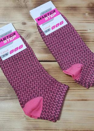 Носки укороченные коралловые, размер 25 / 37-39р.