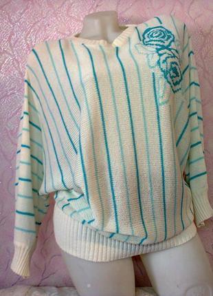 Кофта нарядная свитер джемпер летучая мышь