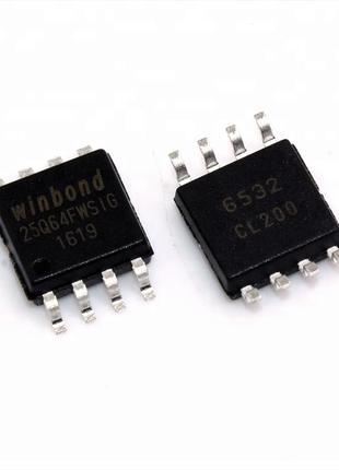 2шт W25Q64FW, 1.8V, 64Mb, Флэш-память 25Q64 25Q64FWSIG W25Q64