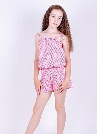 Комбинезон для девочек розовый