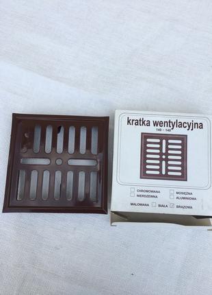 Вентиляционная решетка металлическая 140 x 140мм Польша