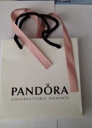 PANDORA. фирменный брендовый пакет с лентой