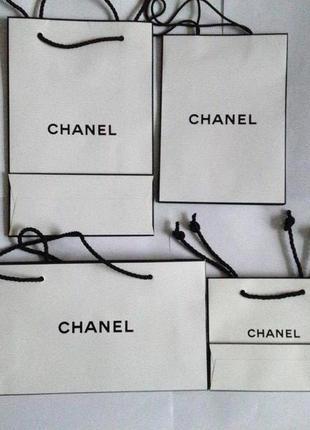 Брендовый Фирменный подарочный пакет Шанель Chanel