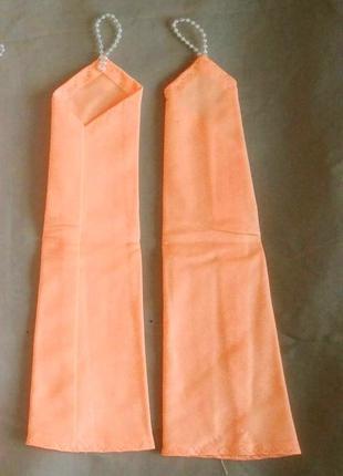 Перчатки персико-оранжевые