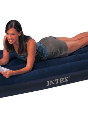 Надувной велюровый матрас Intex