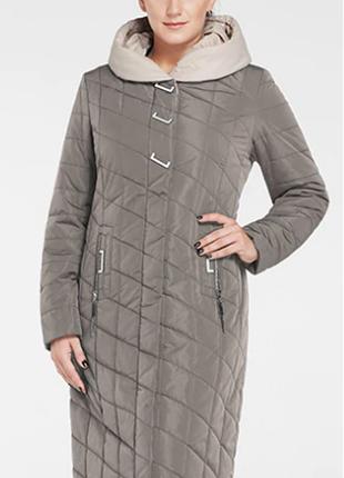 Женская куртка пальто на молнии с капюшоном