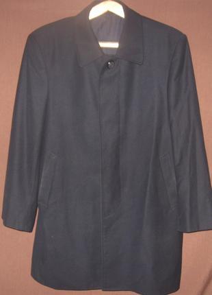Мужское черное демисезонное пальто. Классическое. Дешево