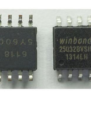 2 шт. W25Q32BVSSIG 25Q32BVSIG, Флэш-память, SPI, 32МБит SOIC-8