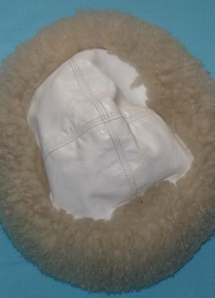 Шапка белая меховая зимняя женская. Дешево Мех и кожа.