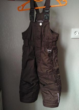 Фирменные штаны полукомбенизон 80-86 см poivre blanc