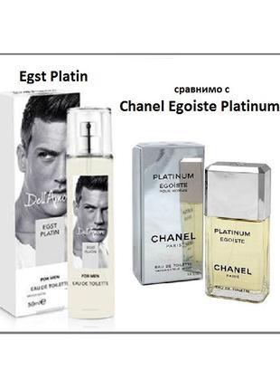 Туалетная вода Dell Amore EGST PLATIN, схожесть с Chanel Egoiste
